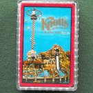Vintage Knotts Berry Farm Deck Of Cards Red