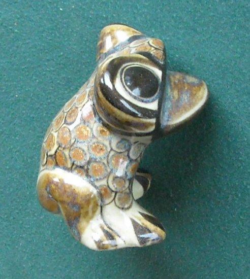 Colorful Terra Cotta Ceramic Frog Signed Villanueva