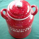Big Red pottery christmas cookie jar