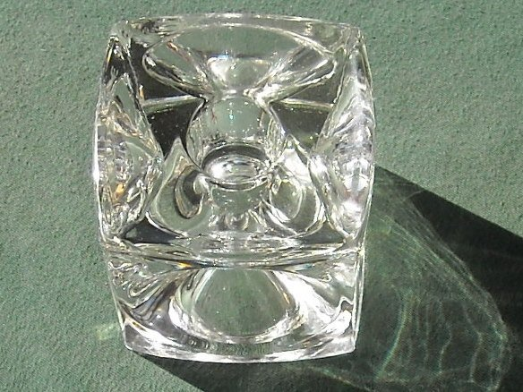 Crystal Cube Votive Candle Holder