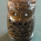 Mid Century Eames Era Ceramic Owl Candle Holder