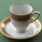 Vintage Tirschenreuth Bavaria Pink Rose cup and saucer