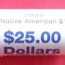 Sacagawea $1 Golden Dollar Coin Roll US Mint 2009