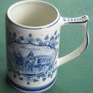 Vintage Delft Blue Heineken Beer Porcelain Mug Krug Stein
