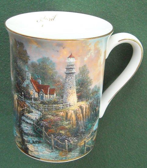 Thomas Kinkade cup mug The Light of Peace April