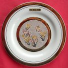 Himark Art of Chokin Japan 24 K gold Flower Bird wall plate