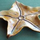 Large pottery ceramic starfish plate dish