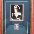 Marilyn Monroe And 32c Stamp Framed