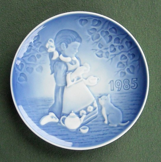 Danish Bing Grondahl Copenhagen Magical Tea Party First Edition Plate 1985