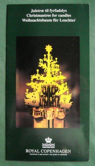 Danish Royal Copenhagen Denmark Christmas Tree for candles