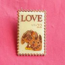 Love Stamp US Postal 22c tie tac pin