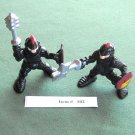2 Fisher Price Retired Great Adventure Magic Castle Black Knights Villains Lot 102