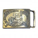 Henry Ford Detroit Brass Vintage Belt Buckle