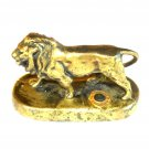 Lions Club International Solid Brass Vintage Lion Paperweight