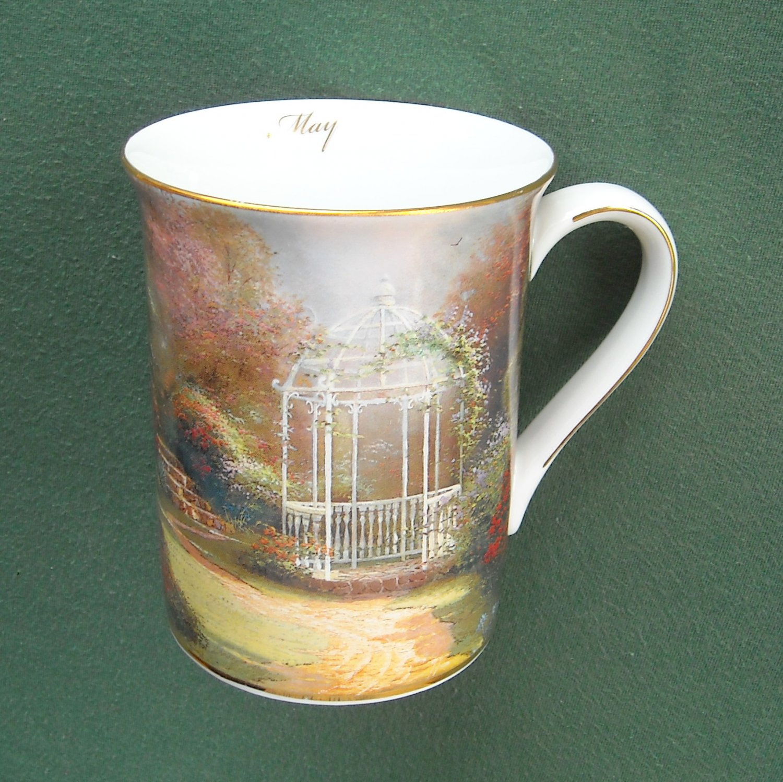 Thomas Kinkade cup mug Lilac Gazebo May