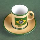 Nicolas Lanas Barrios Brasil vintage demitasse cup and saucer set
