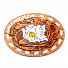 Wild Texas Rose Leather Vintage Tony Lama Belt Buckle