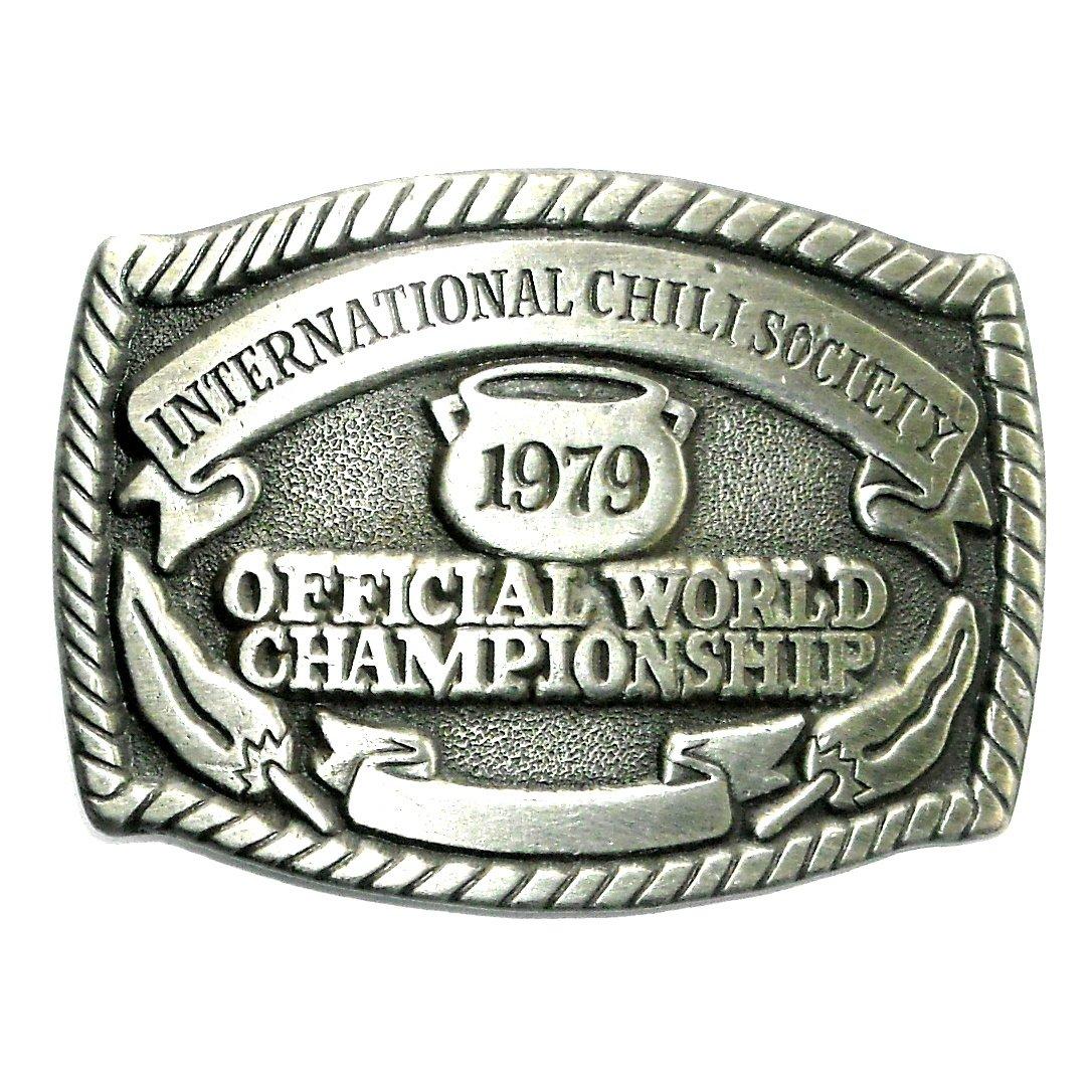 Vintage Official World Championship International Chili Society Belt Buckle