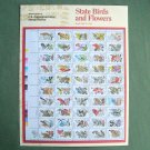 Fifty State Birds Flowers Officially Numbered Full Sheet 20c Stamps