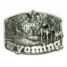 Wyoming 1982 Siskiyou Pewter USED Belt Buckle