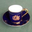 Limoges Cobalt Gold Demitasse Cup and Saucer Set