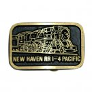 New Haven Railroad RR 1 4 Pacific Brass Belt Buckle