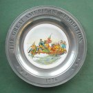 Great American Revolution Plate Washington Canton Pewter