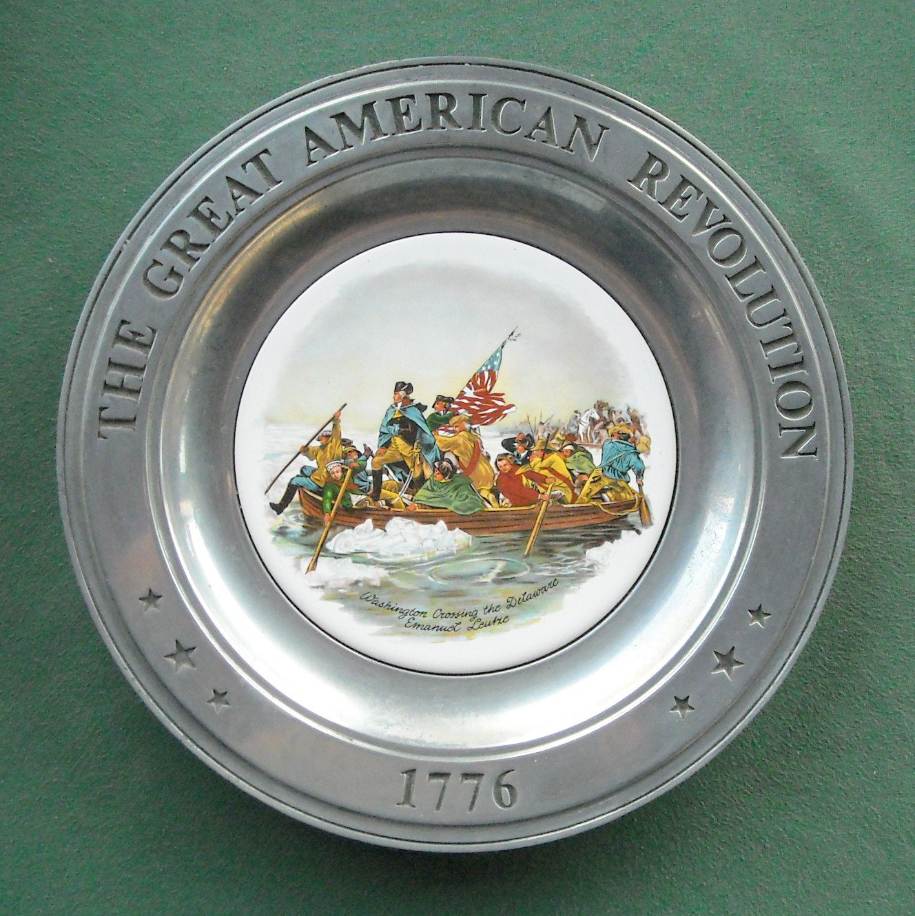 Great American Revolution Plate Washington Canton Pewter II