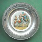 Great American Revolution Plate A M Willard Canton Pewter
