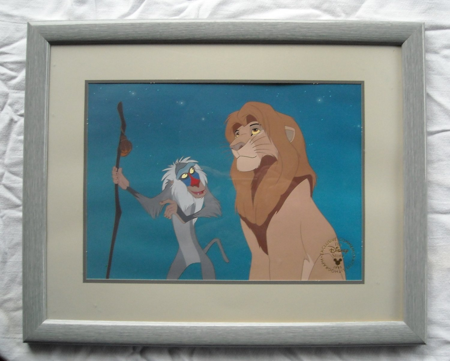 Walt Disney Exclusive Commemorative Lithograph The Lion King Framed 1995