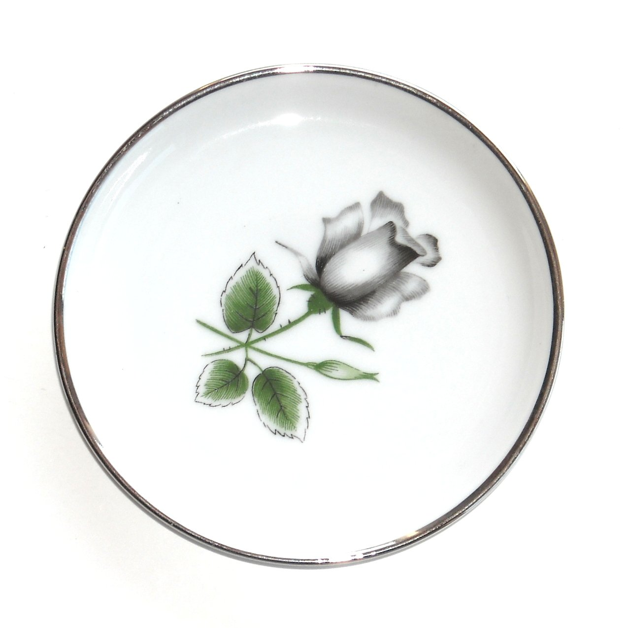 Midnight Rose Silver Bavarian Stonegate Germany Small Plate