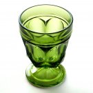 Anchor Hocking Vintage Fairfield Emerald Green Glass Goblet