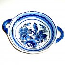 Delfts Blue Porcelain Double Handle Vintage Bowl