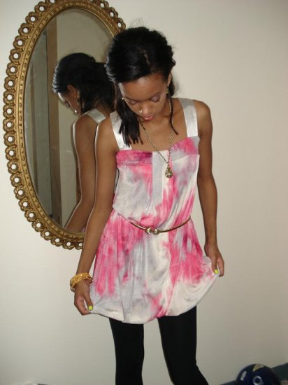 Pink & White Tie Dye Dress