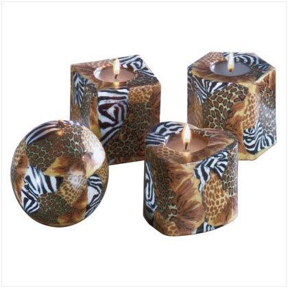 Safari Pattern Candle Set