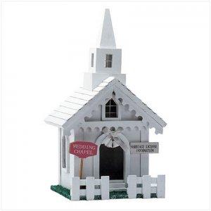 Wedding Chapel Birdhouse