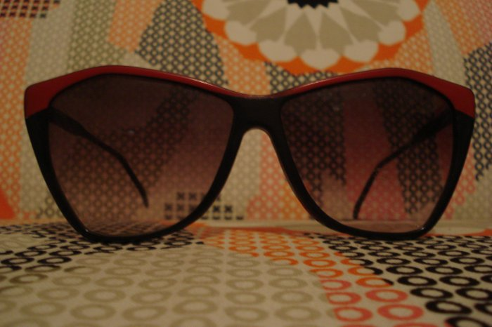 Vintage Black and Red Sunglasses