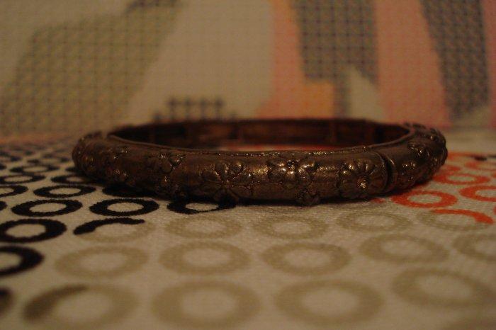 bronze floral design bracelet