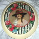 STUNNING*RARE* FREDERICK MANNING-DECO LADY IN HAT, ROSES-PRINT ONLY