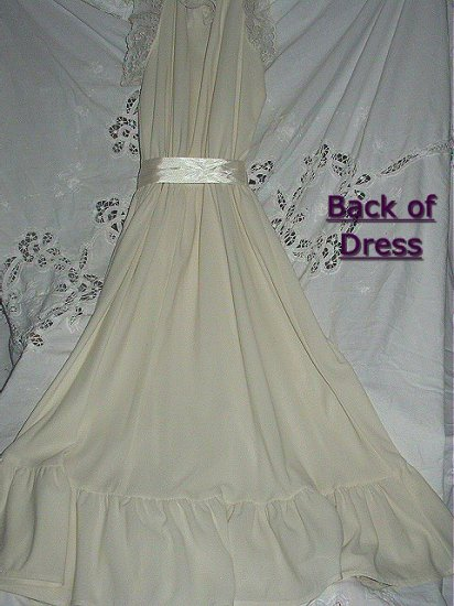 Boho Fabulous Sexy Sweet Cream Lace Apron Satin Ribbon Fredericks Of Hollywood Dress New Old Stock