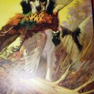 COLORFUL LITHOGRAPH-SPORTSMANS GLORY-HUNTING DOG CARRYING GAME PHEASANT BIRD