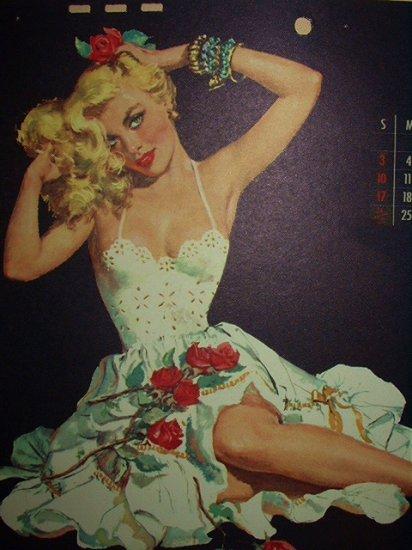 c1954-OCTOBER Pin-Up Glamour Girl-ERNEST CHIRIAKA