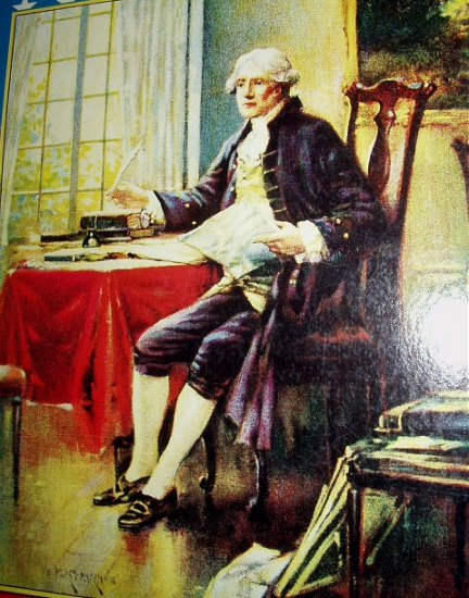 PERCY MORAN-Thomas Jefferson Preserved Lithograph Print