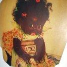 RARE-PAPER ADVERTISING FAN-MABELS WASH,SELMA,ALABAMA-SWEET BLACK GIRL WASHING-CHARLOTTE BYI