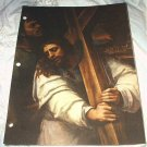 CHRIST BEARING THE CROSS-DEL PIOMBO - VINTAGE LITHOGRAPH