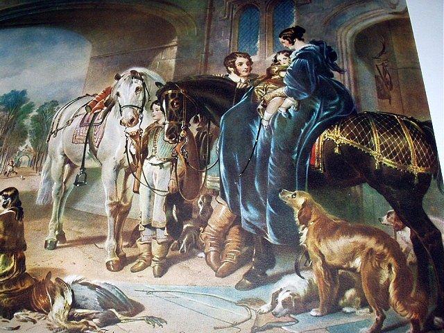 FALCONRY-SAMUEL COUSING-Horses,Children,Dogs,Falcon Birds
