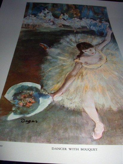 EDGAR DEGAS-LARGER LITHOGRAPH-DANCER WITH BOUQUET