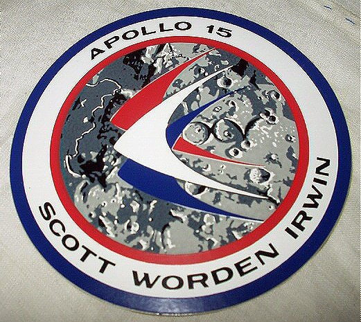 1971 APOLLO 15 SPACE MISSION INSIGNIA LABEL-MINT