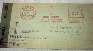 1946 Allied American Zone Military Canceled Letter