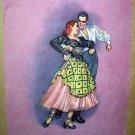 Festive SPANISH DANCERS Vintage Lithograph -D.AMARIO